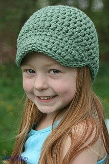 Another really quick and easy hat. Made with Red Heart Super Saver using two strands of yarn held together.