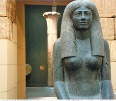 Statue of Lady Sennuwy (Nubia/Kush/ Modern day Sudan) Kemet Middle Kingdom, Dynasty 12, reign of Senwosret I 1971–1926 B.C. This elegant seated statue of Lady Sennuwy of Asyut is one of the most...