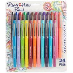 Paper Mate&$174; Felt Tip Marker Pens, Medium Tip, 24ct - Tropical & Multicolor Ink : Target