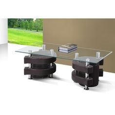 Best Quality Furniture Glass Coffee Table Mordern Brown Simulated Leather W Two Stools ** You can get additional details at the image link. (This is an affiliate link and I receive a commission for the sales) Leather Coffee Table, Outdoor Furniture Sets, Outdoor Decor, Ping Pong Table, Quality Furniture, Discount Furniture, Picnic Table, Home Improvement, Stools