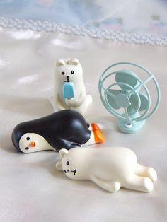 Decole 夏のまったりマスコット <しろくまアイス/うだうだしろくま/うだうだペンギン/扇風機> | インテリア・ディスプレイ小物,オブジェ・ディスプレイ小物 |  | 「かわいい雑貨 屋 chotto futto」