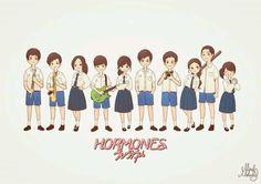 Hormonas: Jóvenes confusos (Hormones the confusing teens). Hormones The Series. Hormones The Series, My Love From The Star, Thai Drama, Cartoon Pics, Drama Series, My King, Korean Drama, I Movie, Fangirl