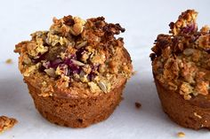 Gluten Free Apple & Sunbutter Granola Muffins - only 4 main ingredients - no refined sugars, dairy free, egg free, nut free! Healthy Cake, Healthy Snacks, Healthy Eating, Breakfast Recipes, Snack Recipes, Kitchen Recipes, Cake Recipes, Craving Sweets, Breakfast On The Go