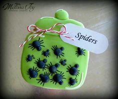 Melissa Joy Fanciful Cookies & More:  Jar of spiders cookie