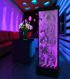 Large Tall Full Color LED Lighting Bubble Wall Floor Panel Display w/ Pump - Gamer House Ideas 2019 - 2020 Home Music, Home Studio Music, Deco Led, Interior Led Lights, Bubble Wall, Restaurant Lighting, Restaurant Ideas, Water Walls, Led Panel Light