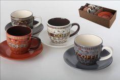 Set 4 tazas café capuccino 225 cc.