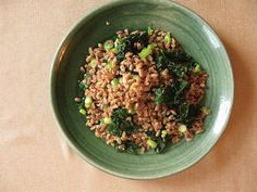 Camino's Fried Farro with Dark Greens — Cookbook Review & Recipe from Off the Menu by Marisa Guggiana