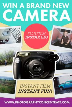 Enter this giveaway for a chance to win a Fuji Instax Instant Camera!