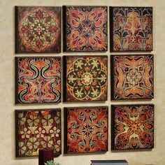 Tuscan 9-panel wall art.  I love this, great for kitchen