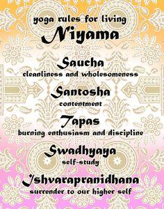 9 Best Niyamas images | Yamas and niyamas, Yoga quotes, Eight ...