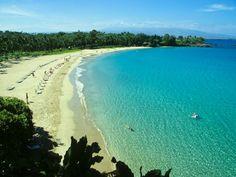 Big Island Hawaii Beaches | Kaunaoa Beach (Mauna Kea Beach) on Big Island Hawaii - Pictures & Info