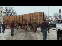 Part final assembly, and the new Borax wagons roll out of the shop for the first time. First time in 130 years since these wagons were built. Coach Shop, Horse Drawn Wagon, Wooden Wagon, Old Wagons, Blacksmithing, Rustic Wood, Wood Projects, Wheels, Woodworking