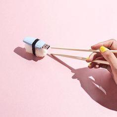 Sushi byte .  by @melonblanc. Caption by @crankyconnoisseur. #regram