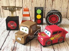 Cajas para mesa de dulces Cars / Cars Party boxes / dulceros cars Cars Birthday Parties, Cool Birthday Cakes, 3rd Birthday, Valentine Box, Valentines For Kids, Auto Party, Car Cake Tutorial, Monster Truck Party, Disney Cars Party