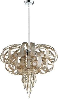 Chandelier Pendant CYAN DESIGN CINDY LOU WHO 10-Light Cognac Gold Leaf Ch CY-153