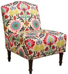 One Kings Lane Clark Slipper Chair - Pink