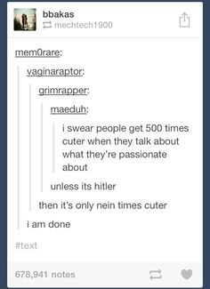 Hitler jokes. Funny in the worst way
