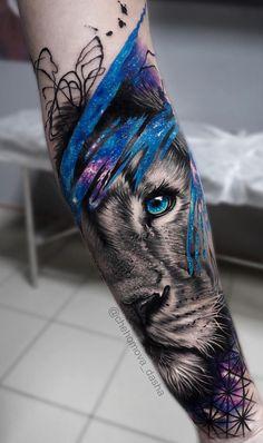 50 eye-catching lion tattoos make you fancy ink - lion - # eye-catching . - 50 eye-catching lion tattoos make you want to ink – lion – # striking … – tattoos – # - Wolf Tattoos, Animal Tattoos, Forearm Tattoos, Body Art Tattoos, Girl Tattoos, Tattoos For Guys, Tatoos, Leo Lion Tattoos, Tattoos Masculinas
