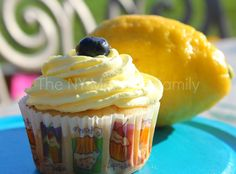 Decadent and light blueberry lemonade cupcakes perfect for springtime.