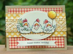 The Paper Landscaper: Happy Cluckin' Birthday