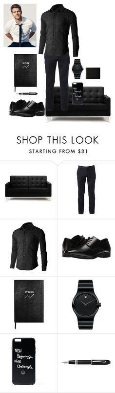 """""""Damian-nap time with princess"""" by twilightfreak18-1 ❤ liked on Polyvore featuring Rove Concepts, Urban Pipeline, Stacy Adams, Sloane Stationery, Movado, Fountain, Will Leather Goods, men's fashion, menswear and roleplay"""