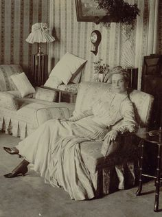 Princess Zenaida in her mansion in Moscow.