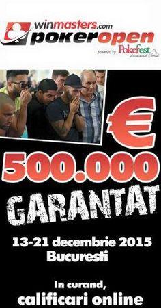 Winmasters PokerOpen - Pokerfest cu 500.000 euro garantati