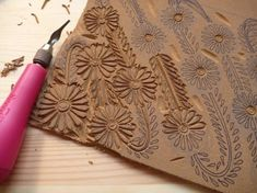Block printing -   @Oh so beautiful paper  (be sure and look at the finished prints - gorgeous)