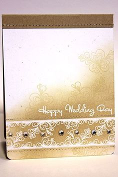 Quilled Wedding Card by Heather Nichols for Papertrey Ink (December 2012)