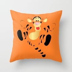 Buy Bouncing Baby Tigger Throw Pillow by happy patterns. Worldwide shipping available at Society6.com. Just one of millions of high quality products available.