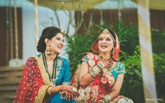 A sister is God's way of choosing your best friend for you! Only a best friend can make a bride laugh like this on her wedding day! Here's wishing a very Happy World Siblings Day to eveyone! Wedding Film, Wedding Couples, Wedding Day, Coffee Table Album, Professional Wedding Photography, Candid Photography, Couple Shoot, Sari, Bride