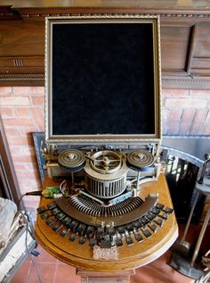 steampunk information and entertainment interface console