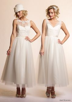 amy kuschel tea length wedding dresses 2013 mimosa summer