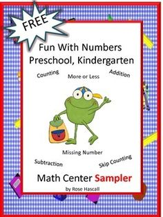 FREE: Free Fun With Numbers Preschool Kindergarten Math Center Sampler. With this Sampler you will receive two (2) worksheets from my Fun With Numbers Preschool Kindergarten Math Center Worksheets. The Full Version Fun With Numbers Preschool Kindergarten Math Center Worksheets contains 29 pages.