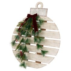 You'll have the best seasonal décor with the White Pallet Wood Christmas Ornament Outdoor Décor, To purchase, and find more affordable Old Town Tidings, visit your local At Home store. Christmas Wood Crafts, Country Christmas Decorations, Outdoor Christmas, Rustic Christmas, Christmas Projects, Christmas Diy, Christmas Ornaments, Wooden Pallet Christmas Tree, Winter Wood Crafts