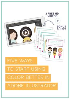 Learn to color better in Adobe Illustrator with this free video series created by Angelica Suarez of AngSuarez Creative. We'll cover how to save custom swatches, how to save color groups, how to recolor artwork easily, use the blend tool and mesh tool. Graphic Design Tips, Graphic Design Typography, Tool Design, Learn Illustrator, Adobe Illustrator Tutorials, Photoshop Design, Photoshop Tutorial, Logo Tutorial, Mesh Tool