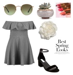 """spring is here!"" by biancaallotey16 on Polyvore featuring Ray-Ban, Boohoo, Steve Madden, Cara and H&M"