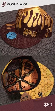 be56dc3afaa Grassroots Hat Spoiled oil drips   honeycombs! So cute!! Never worn