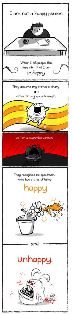 How to be perfectly unhappy - The Oatmeal. The thin line between depressed and normal....