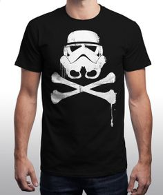 """Skull Trooper"" is today's £8/€10/$12 tee for 24 hours only on www.Qwertee.com Pin this for a chance to win a FREE TEE this weekend. Follow us on pinterest.com/qwertee for a second! Thanks:)"