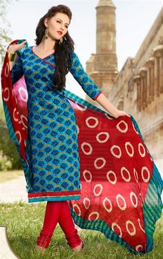 Picture of Vivacious Multi Color Party Wear Salwar Kameez