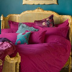 Lit Lit Gold Rattan Luxury Bed  |  Beds  |  Beds & Mattresses  |  French Bedroom Company