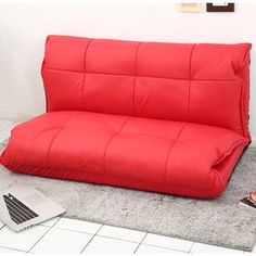 Gmarket - Sofa bed / faux leather / adjustable / quilted / cushi...