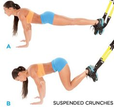 TRX Suspended Crunches -- an incredibly effective lower ab exercise.