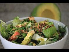 Receita Salada verde com Abacate
