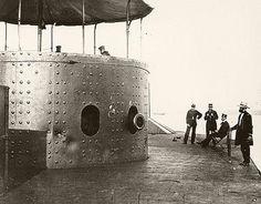 USS Monitor on the James River, Virginia, circa 1862