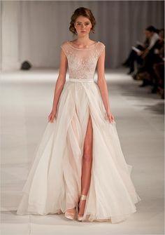 Paolo Sebastian Swan Lake Wedding Dress #http://www.weddingchicks.com/2014/03/05/pink-paris-wedding-ideas/