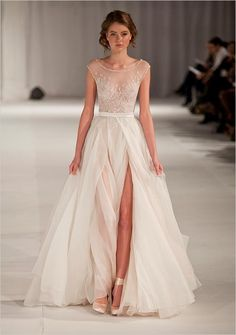 Paolo Sebastian Swan Lake Wedding Dress #weddingdress #dreamdress #weddingchicks http://www.weddingchicks.com/2014/03/05/pink-paris-wedding-ideas/