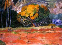 Au pied de la montagne - Paul Gauguin