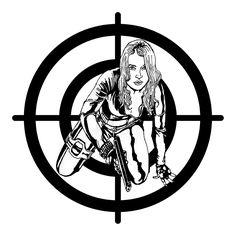 Fumetti: prove d'inchiostro personaggio femminile